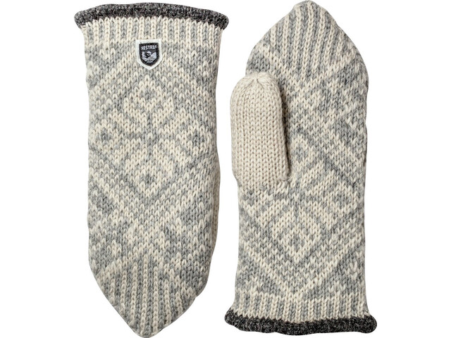 Hestra Nordic Wool Manoplas, grey/off-white